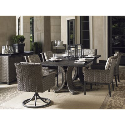 Blue Olive 5 Piece Dining Set with Cushions