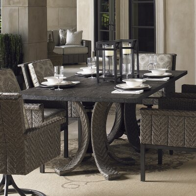 Olive Wicker Rattan Dining Table 983 Item Image