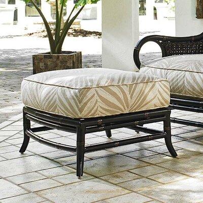 Marimba Ottoman Ottoman Fabric: Beige/Cream Leaf