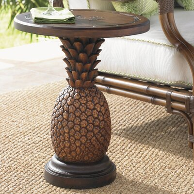 Alfresco Living Side Table Finish: Brown