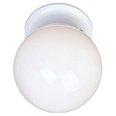 Essentials 1-Light Flush Mount Finish: White
