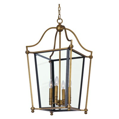 Ritz 4-Light Foyer Pendant Size: 30 H x 21.75 W x 21.75 D
