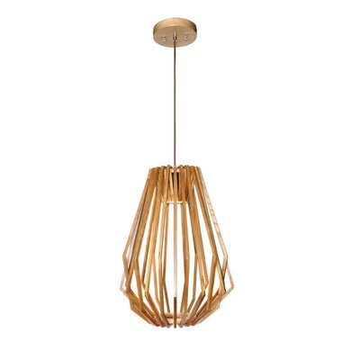Amplas 1-Light LED Foyer Pendant Size: 24 H x 17 W x 17 D