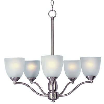 Callimont 5-Light Shaded Chandelier Finish: Satin Nickel