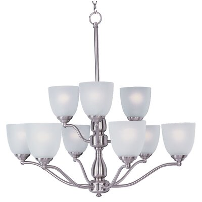 Callimont 9-Light Shaded Chandelier Finish: Satin Nickel