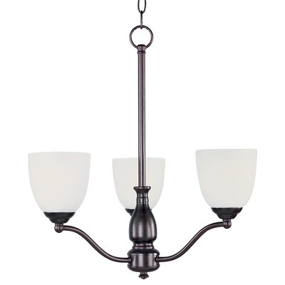 Callimont 3-Light Shaded Chandelier Finish: Oil Rubbed Bronze