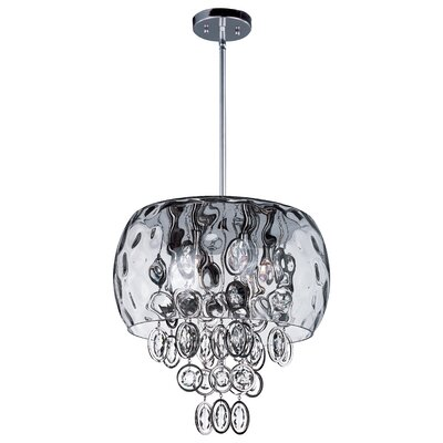 Ripple 6-Light Crystal Pendant