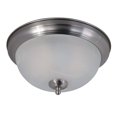 2-Light Flush Mount Shade Color: Marble