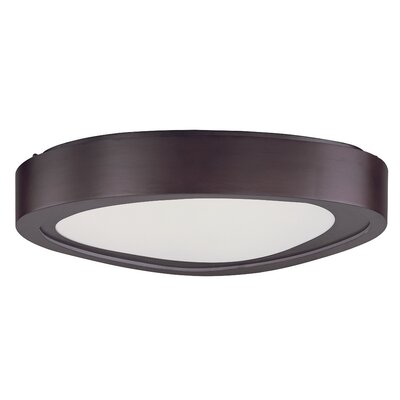 Crossnore Flush Mount Finish: Bronze, Size: 4.75 H x 20 W x 20 D