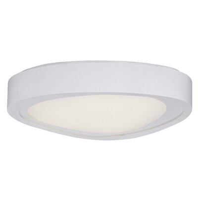 Crossnore Flush Mount Finish: White, Size: 4.75 H x 20 W x 20 D
