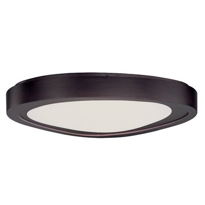 Crossnore Flush Mount Finish: Bronze, Size: 4.75 H x 23 W x 23 D