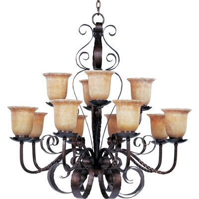Willer 12-Light Shaded Chandelier