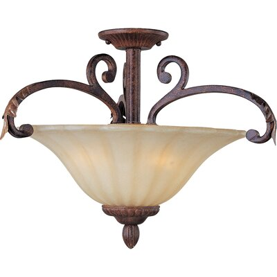 Augusta 3-Light Semi Flush Mount