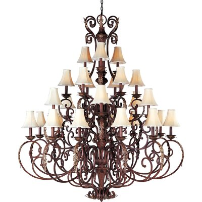 Augusta  27 Light Candle Chandelier Shades: Yes