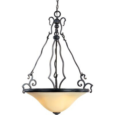 Collinsburg 3-Light Inverted Bowl Pendant