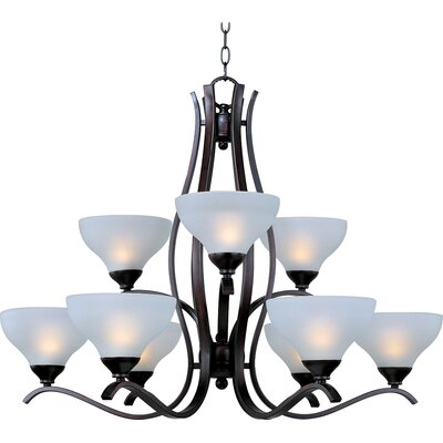 Contour 9-Light Shaded Chandelier Finish: Oil Rubbed Bronze