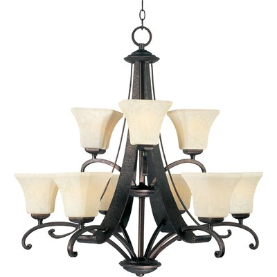 Cottrell 9-Light Shaded Chandelier