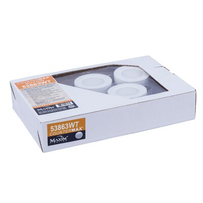 CounterMax LED Under Cabinet Puck Light Finish: White