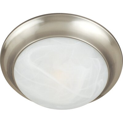 Essentials 1-Light Flush Mount Finish: Satin Nickel, Size: 5 H x 14 W