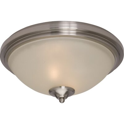 Kerrigan 2-Light Flush Mount Finish: Satin Nickel