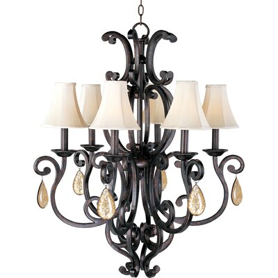 Wiltse 6-Light Shaded Chandelier Shade: No