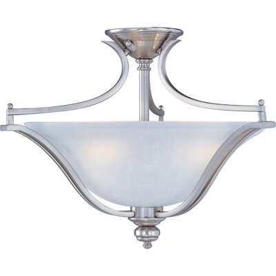 Mansfield Modern 3-Light Semi-Flush Mount
