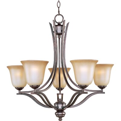 Madera 5-Light Shaded Chandelier Finish: Oil Rubbed Bronze