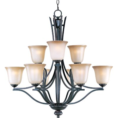 Mansfield 9-Light Shaded Chandelier Finish: Oil Rubbed Bronze