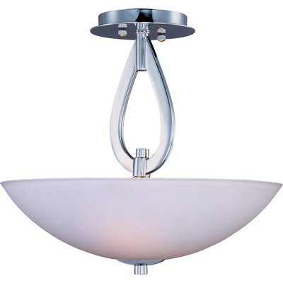 Carmena 3-Light Semi-Flush Mount Finish: Polished Chrome