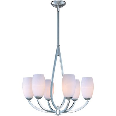 Carmena 6-Light Shaded Chandelier Finish: Polished Chrome