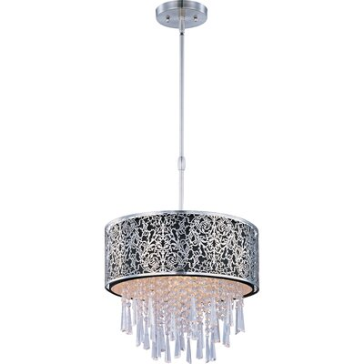 Tayla 5-Light Drum Pendant Shade Color: Black