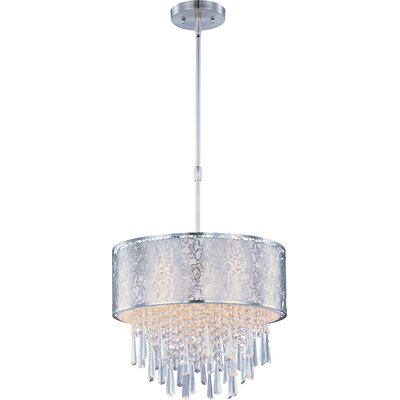 Tayla 5-Light Drum Pendant Shade Color: White