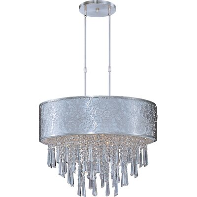 Tayla 9-Light Pendant Shade Color: White