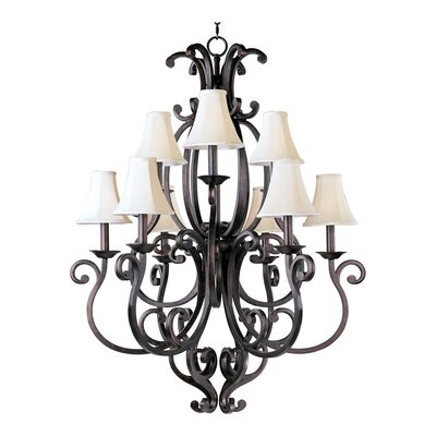 Wiltse Traditional 9-Light Candle-Style Chandelier Shades: Yes