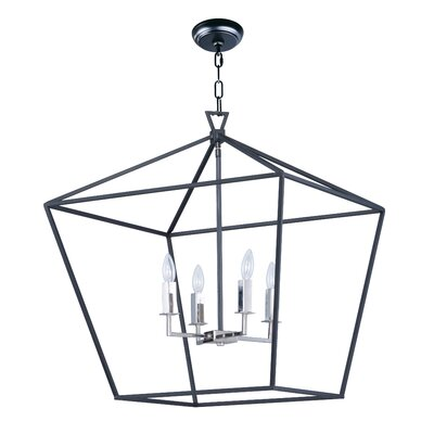 Beckford 4-Light Foyer/Lantern Pendant Size: 27.75 H x 24.5 W x 24.5 D