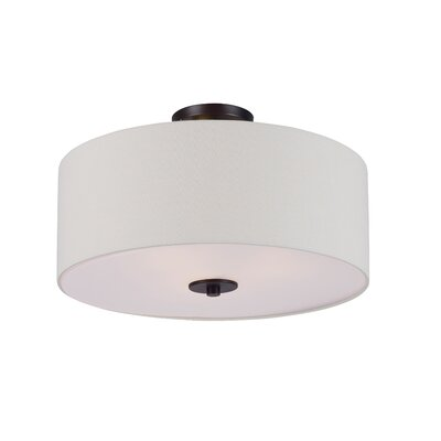 Becher 3-Light Semi Flush Mount Finish: Oil Rubbed Bronze
