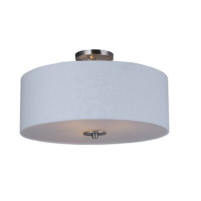 Becher 3-Light Semi Flush Mount Finish: Satin Nickel