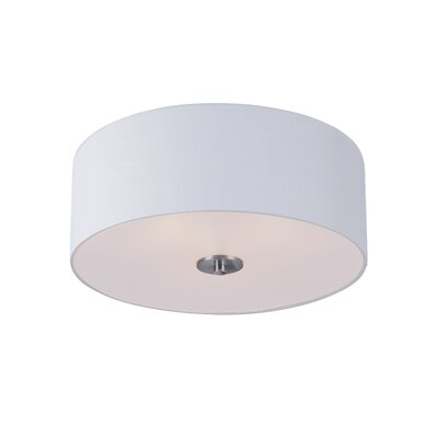 Becher 3-Light Flush Mount Finish: Satin Nickel