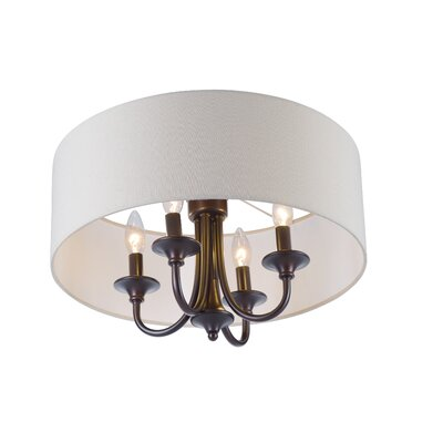Becher 4-Light Semi Flush Mount Finish: Oil Rubbed Bronze