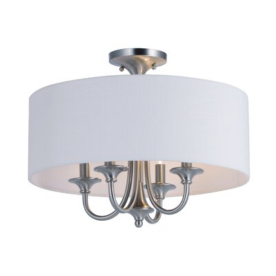 Becher 4-Light Semi Flush Mount Finish: Satin Nickel