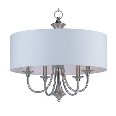 Becher 5-Light Drum Chandelier Finish: Satin Nickel