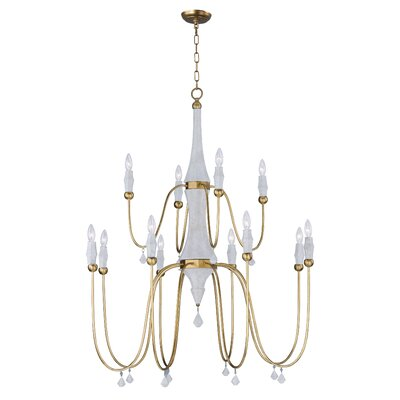 America 12-Light Candle Style Chandelier