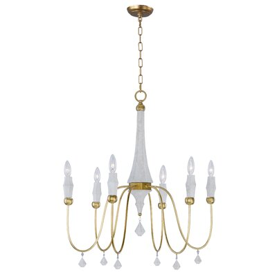America 6-Light Candle Style Chandelier