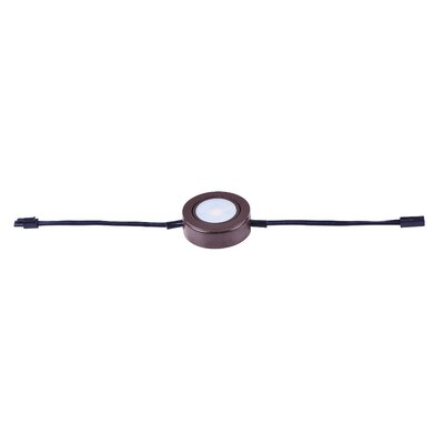 CounterMax MX-LD-AC 2700K and 3000K LED Under Cabinet Puck Light Finish: Anodized Bronze