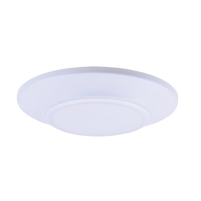 Adelinna 1-Light Glass LED Flush Mount Size: 1 H x 5.75 W x 5.75 D