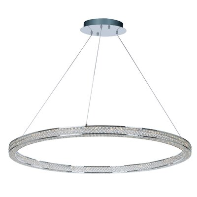 Ambrose 4-Light LED Crystal Pendant Size: 2.75