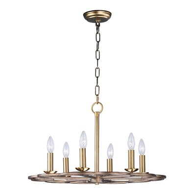 Delana 6-Light Candle-Style Chandelier Size: 14 H x 24 W x 24 D