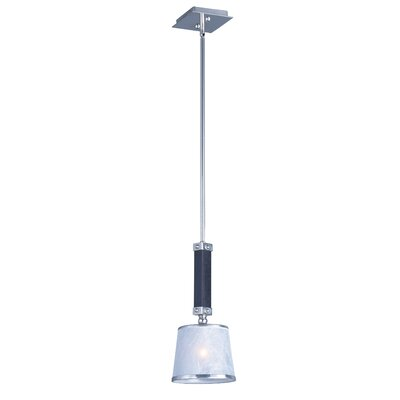 Cayton 1-Light Mini Pendant Finish: Wenge/Polished Nickel
