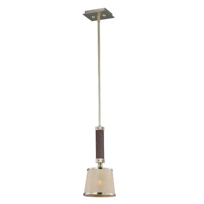 Cayton 1-Light Mini Pendant Finish: Antique Pecan/Satin Brass