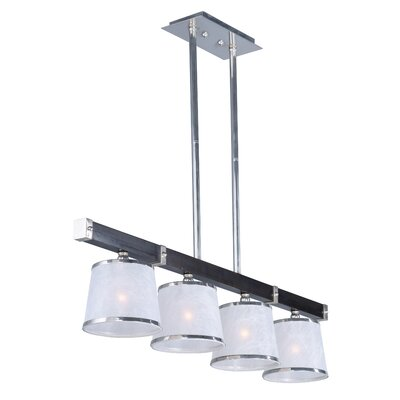 Cayton Linear 4-Light Kitchen Island Pendant Finish: Wenge and Polished Nickel